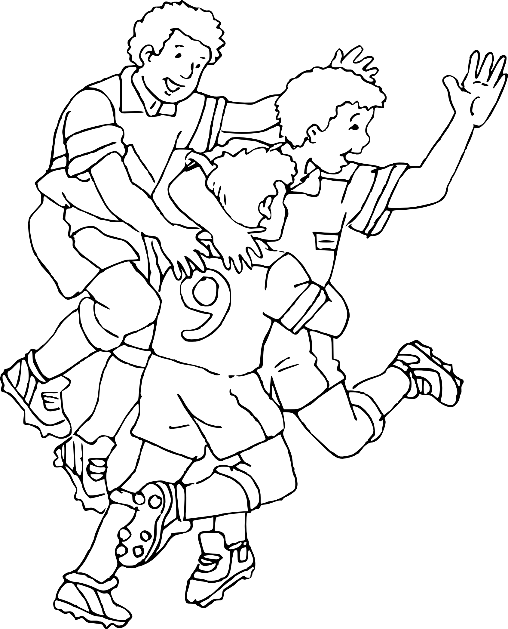 Coloriage victoire foot