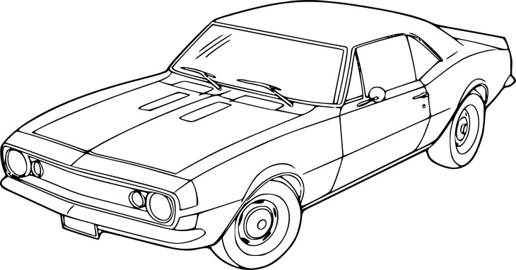 Coloriage voiture chevrolet imprimer - Voiture de sport a colorier ...