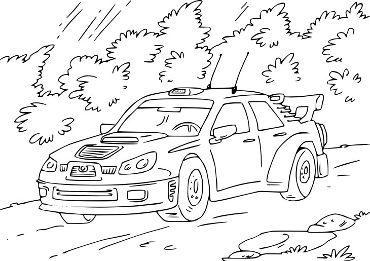 Coloriage voiture de rallye imprimer - Coloriage subaru ...