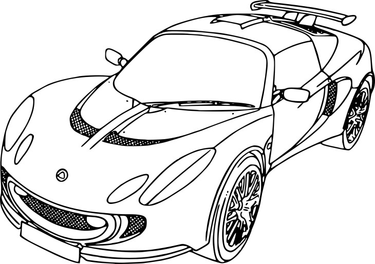 Coloriage Voiture Ford 224 Imprimer
