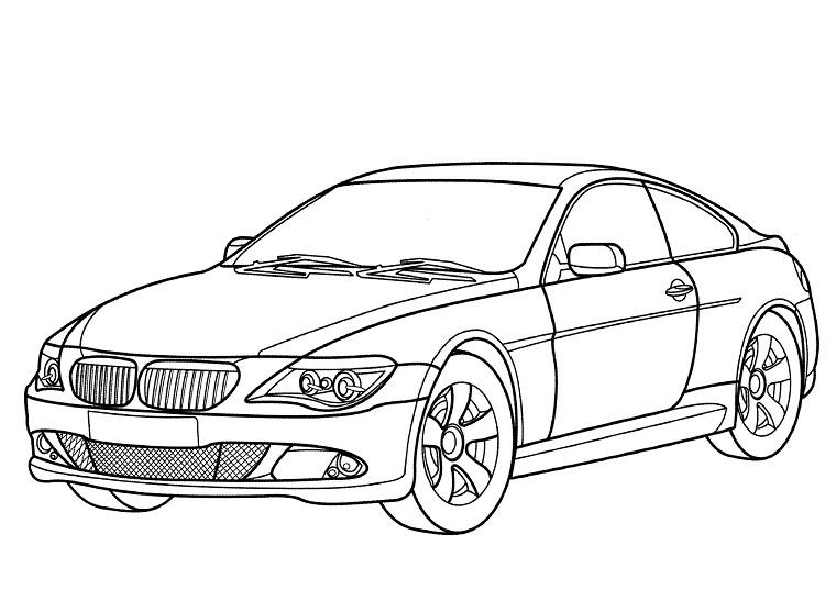 Coloriage voiture Jaguar à imprimer