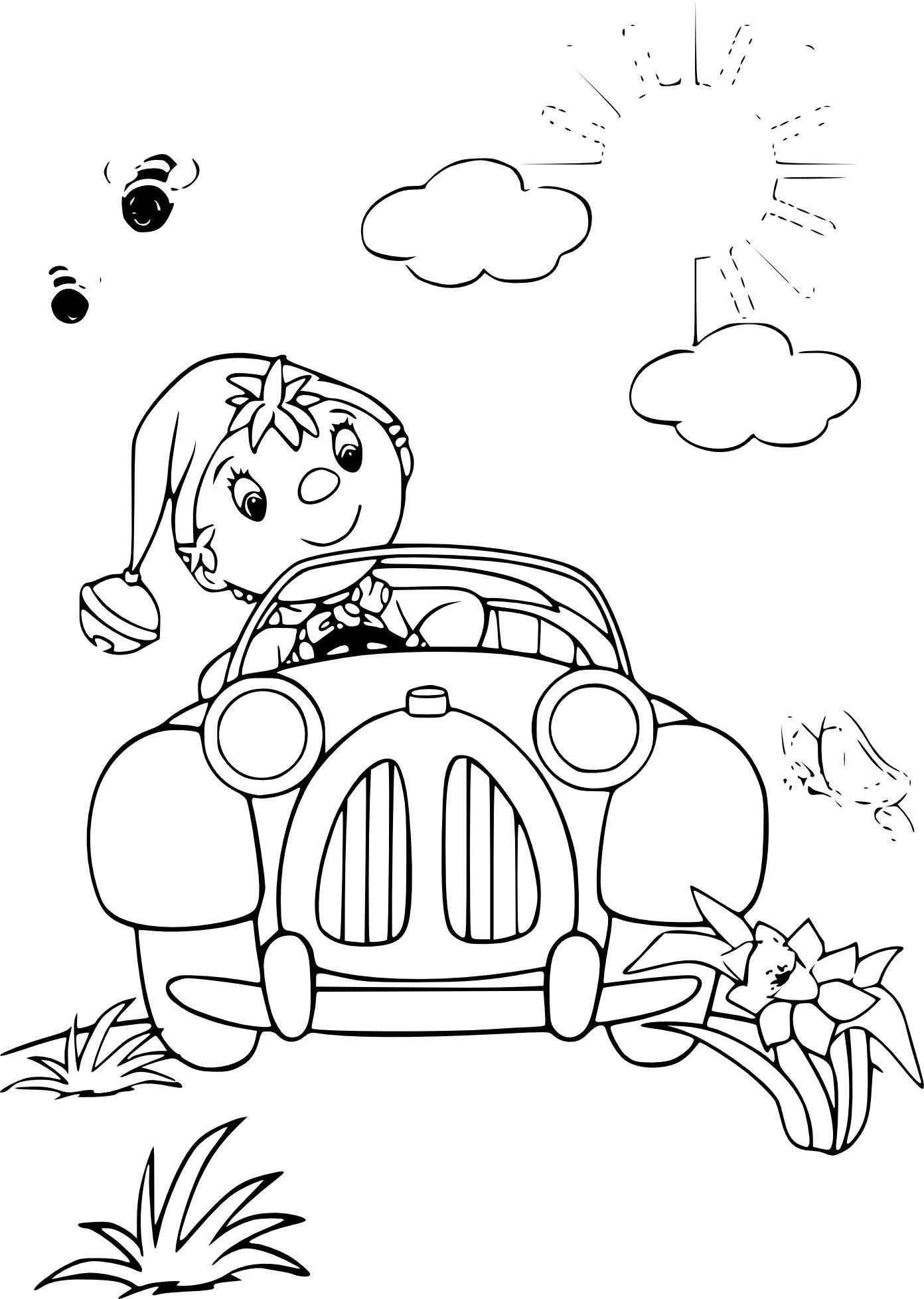 Coloriage voiture oui oui imprimer - Le dessin anime oui oui ...