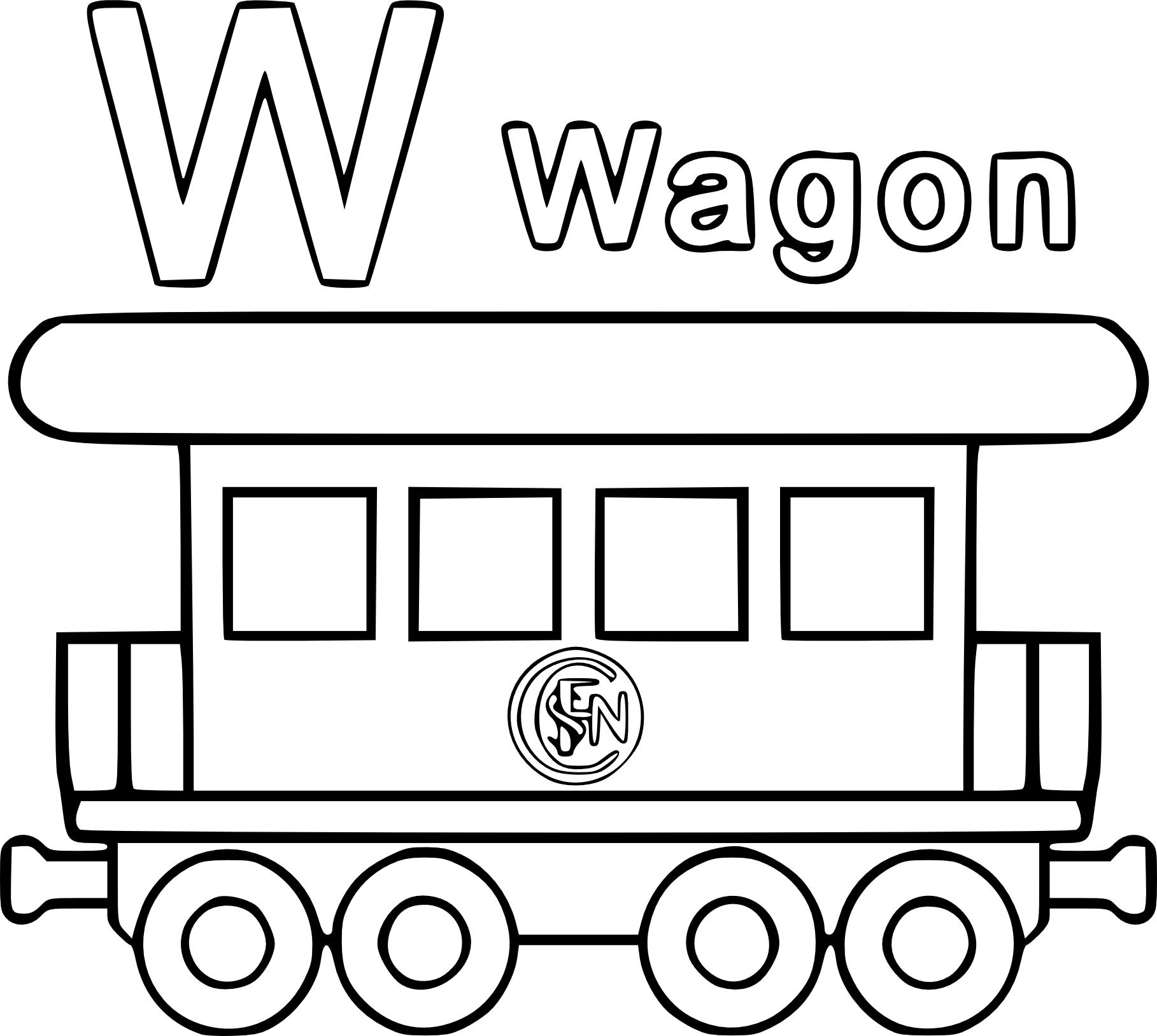 Coloriage wagon imprimer - Dessin train et wagon ...