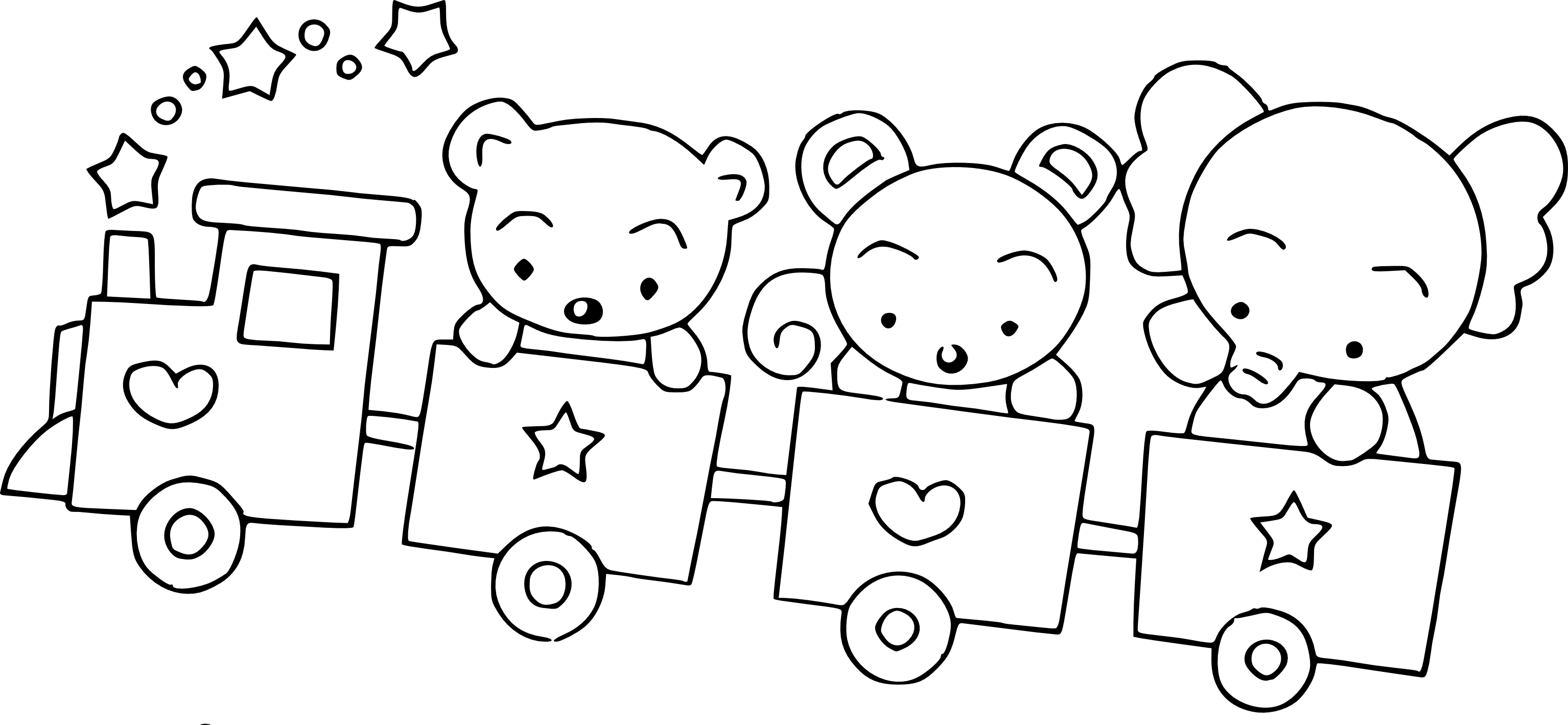 Coloriage wagon et ours imprimer - Coloriage de ours ...
