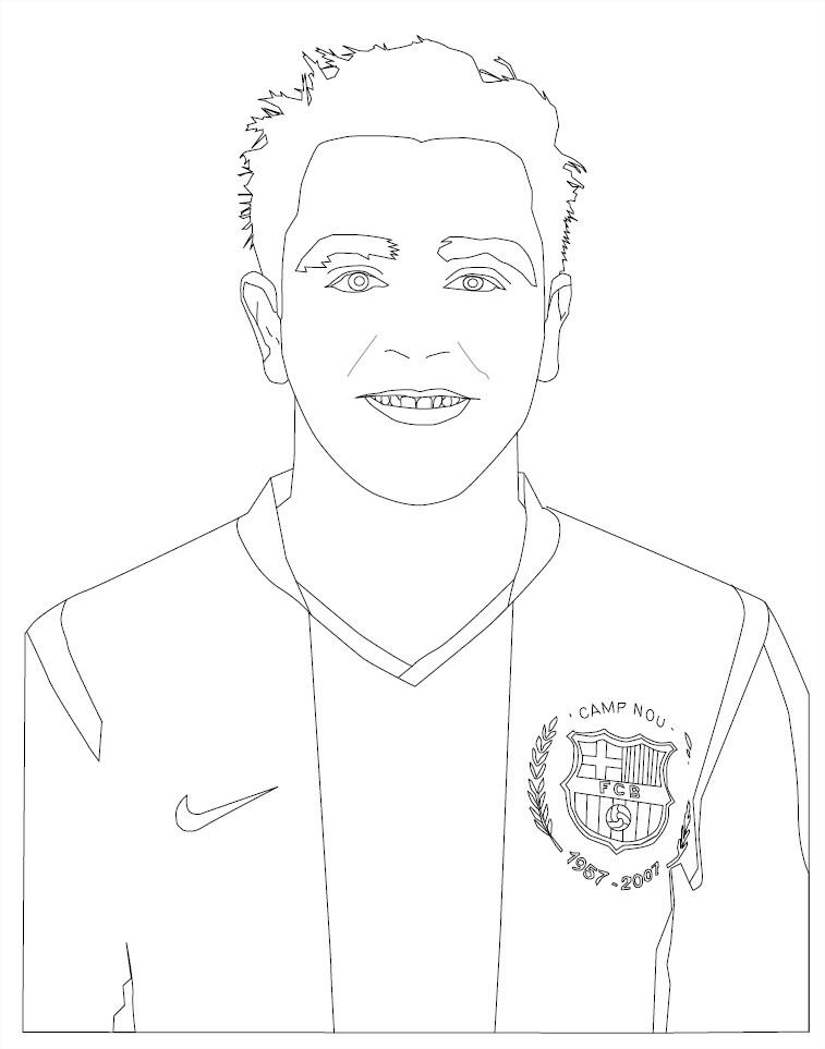 Coloriage Xavi Hernandez