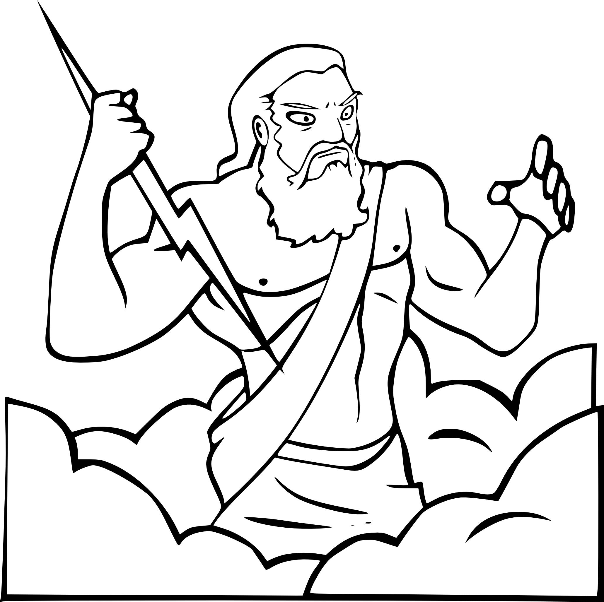 Coloriage Zeus A Imprimer