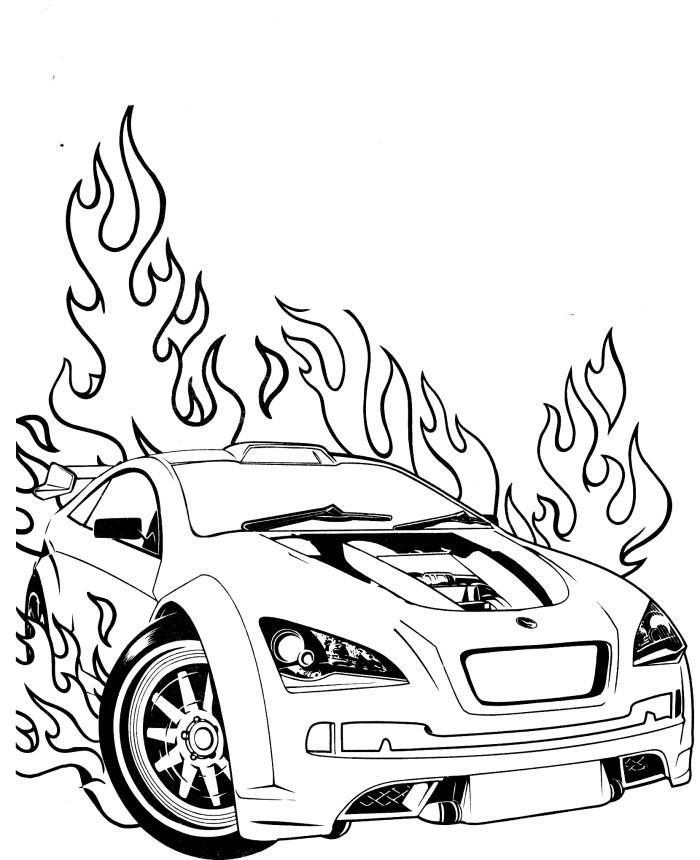 Coloriage Hot Wheels et dessin imprimer