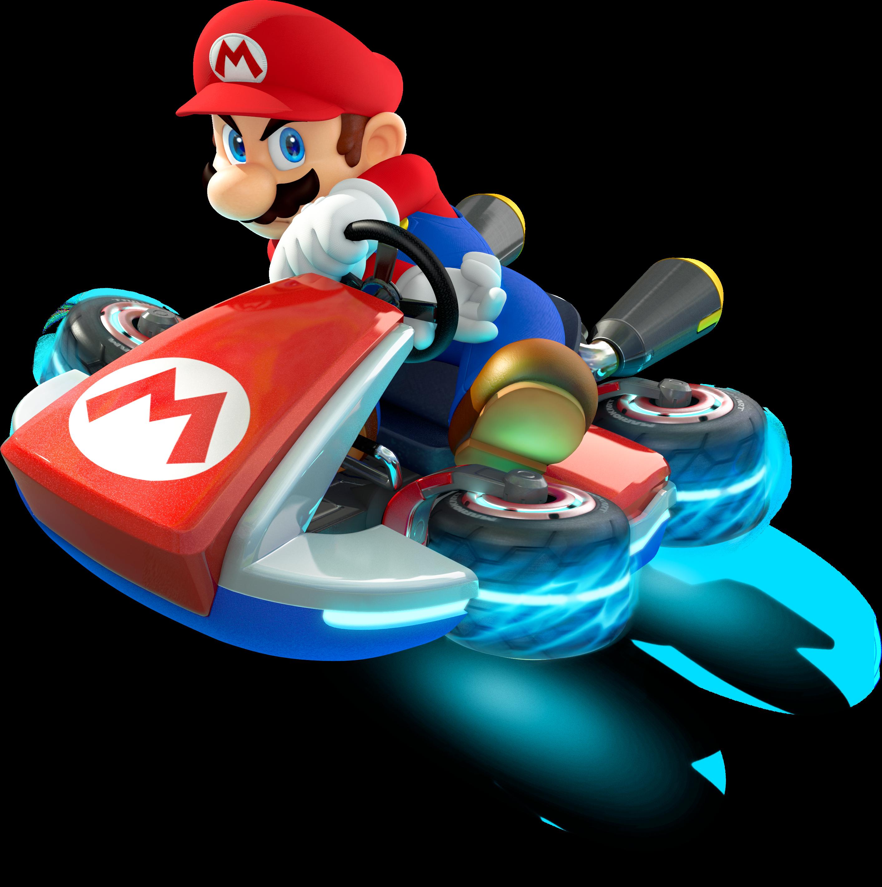 Coloriage Mario Kart 8 à Imprimer