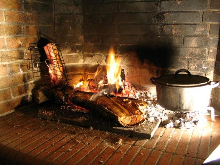Marmite feu de bois
