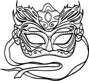 Masque Mardi Gras dessin