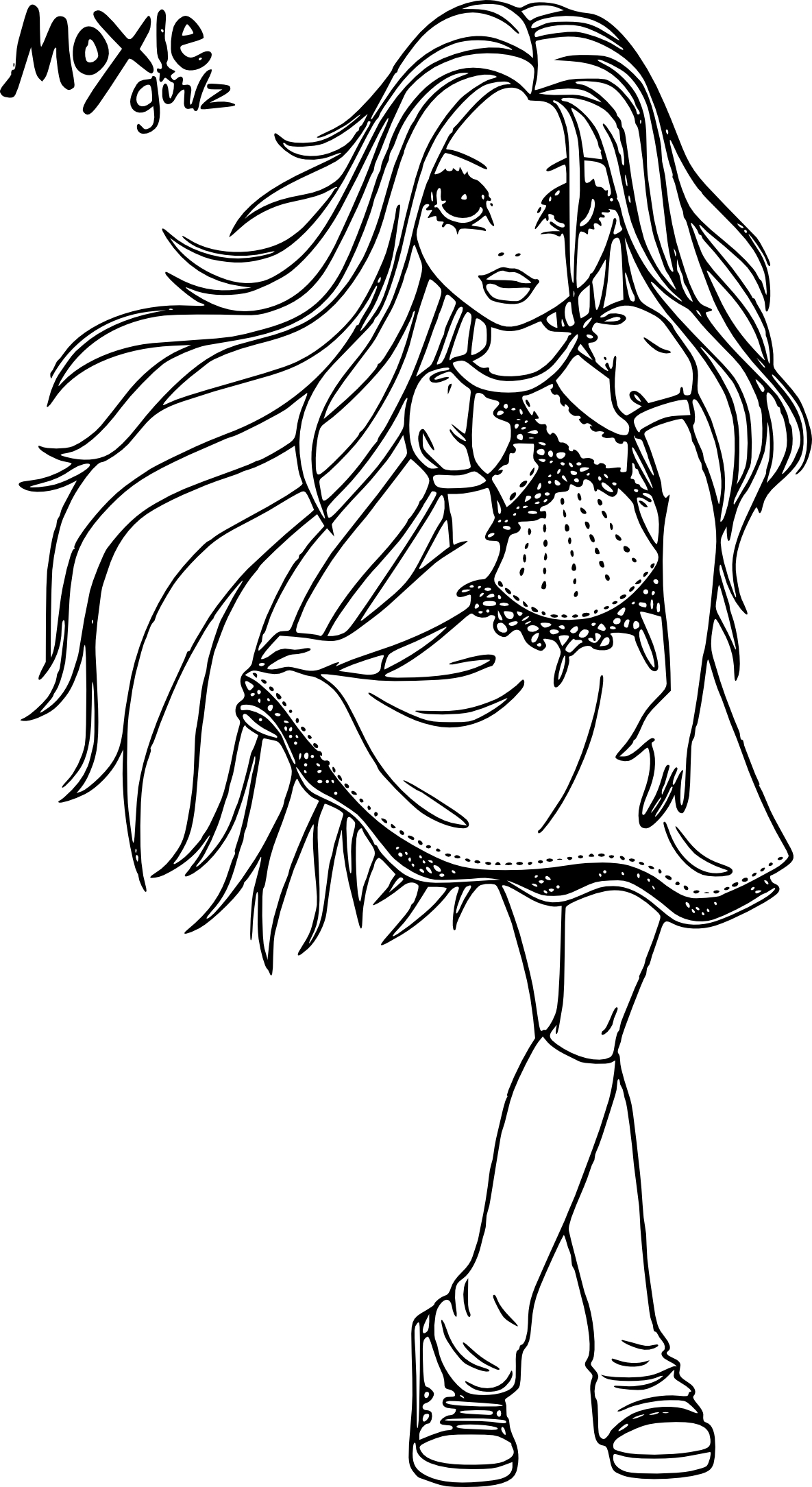 coloriage moxie girlz et dessin