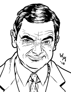 Mr Bean coloriage