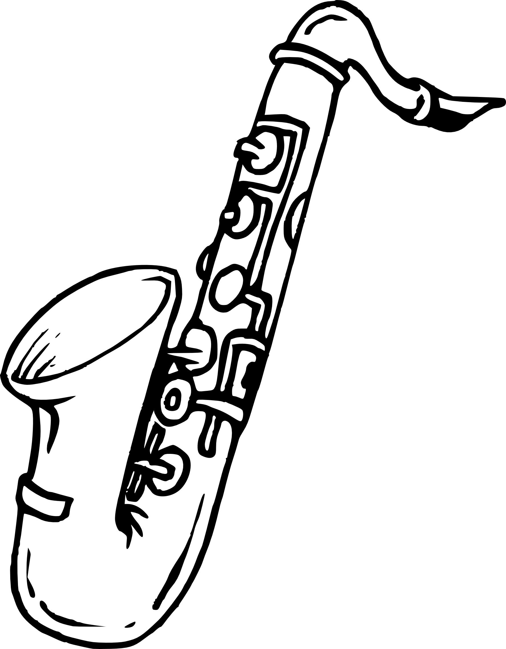Coloriage Saxophone Et Dessin 224 Imprimer