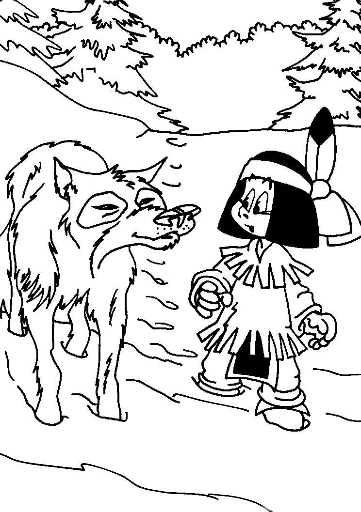 Coloriage yakari et dessin imprimer - Dessiner un loup facilement maternelle ...