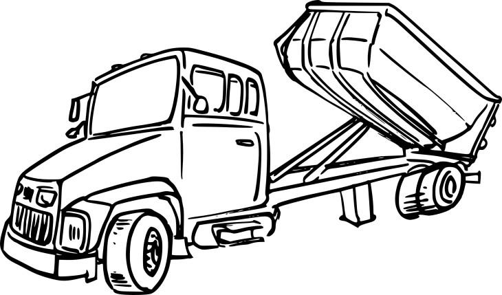 coloriage camion benne et dessin