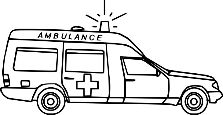Coloriage ambulance samu imprimer - Dessin ambulance ...
