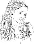 Coloriage Ariana Grande