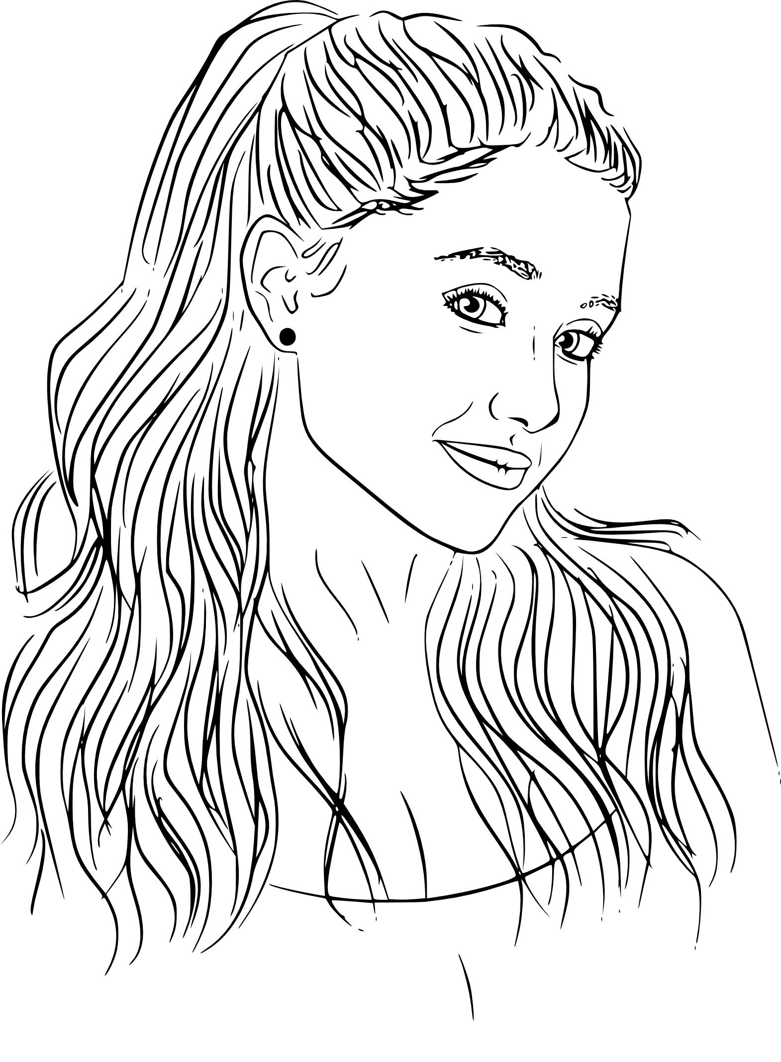 Coloriage Ariana Grande à Imprimer