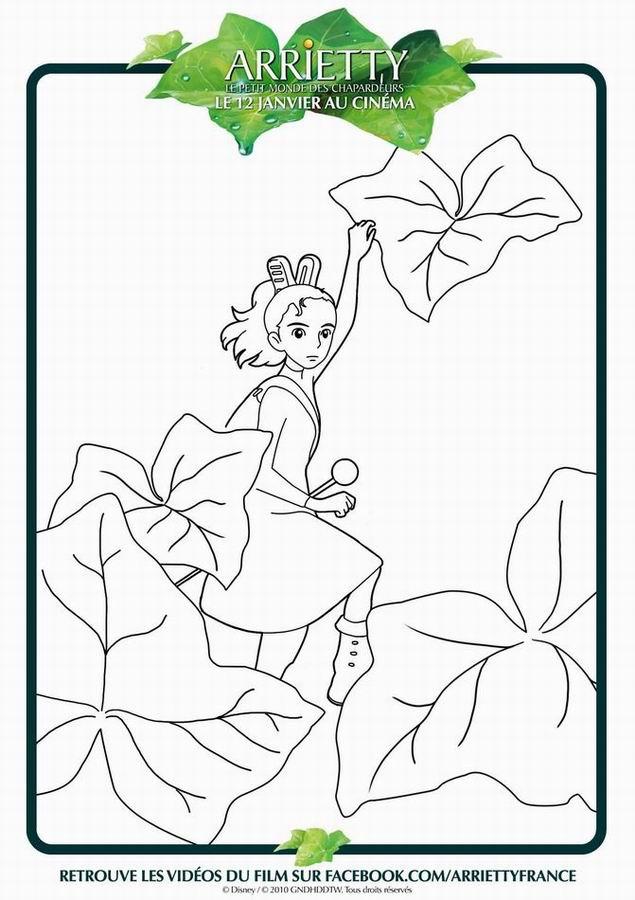 Coloriage Arrietty : Le petit monde des chapardeurs