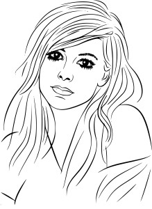 Coloriage Avril Lavigne