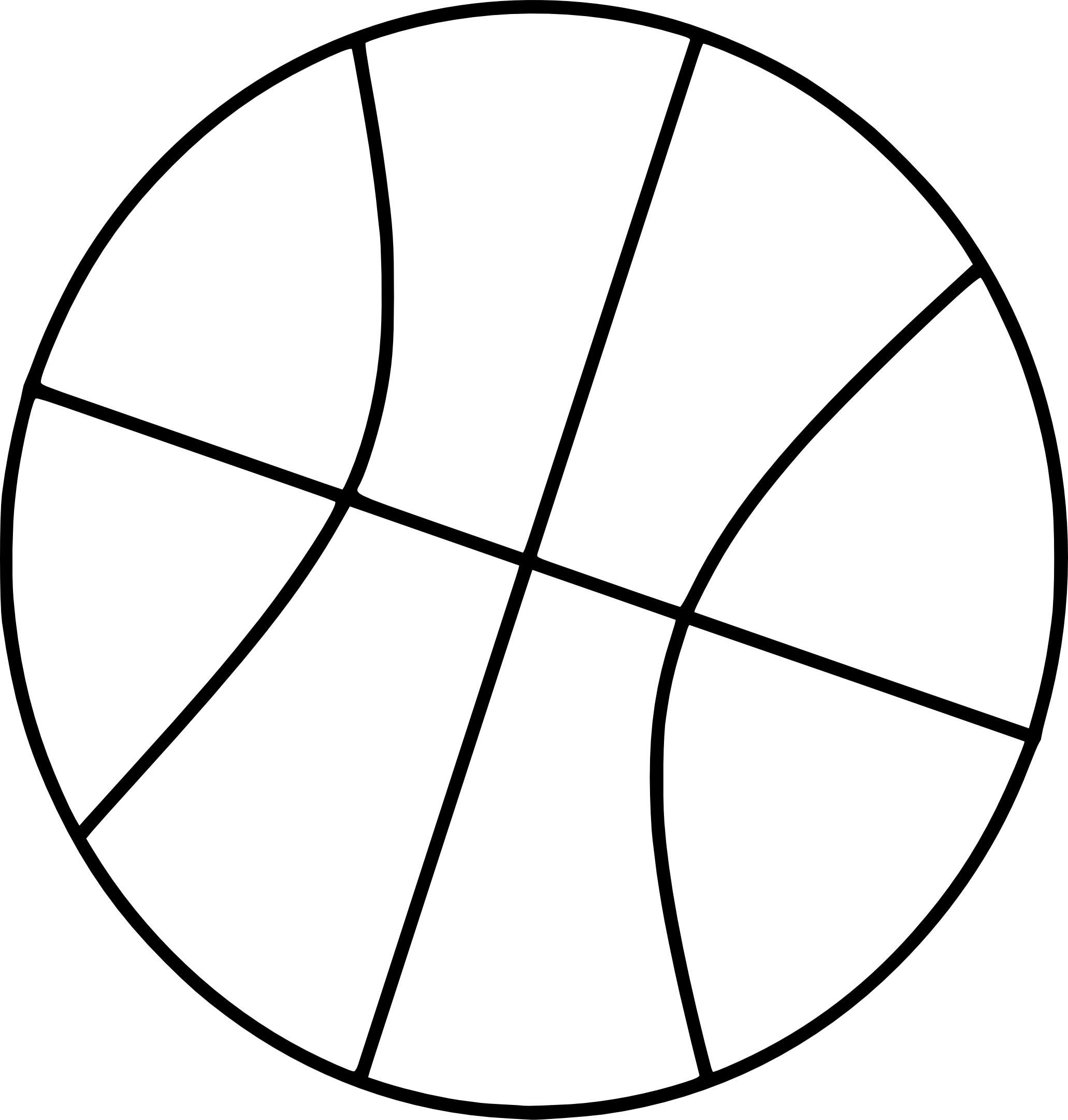 Coloriage ballon de Basketball