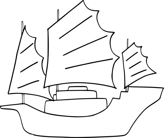 coloriage bateau chinois