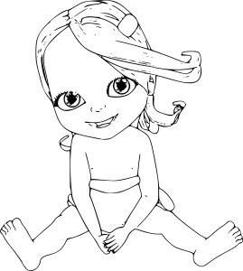 Coloriage bebe Lilly
