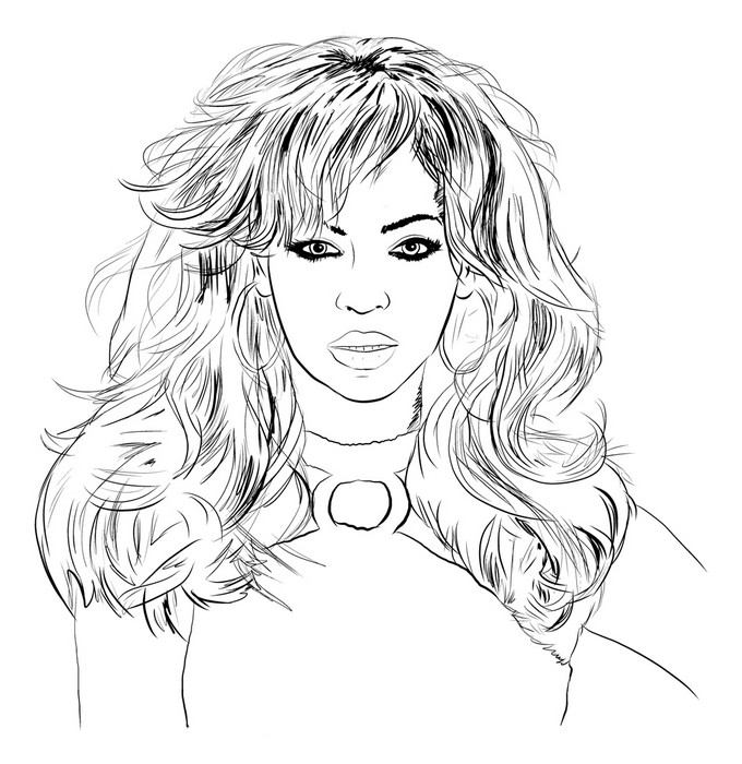 coloring pages famous singers - photo#29