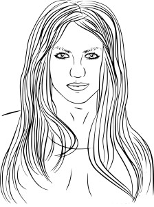Coloriage Britney Spears