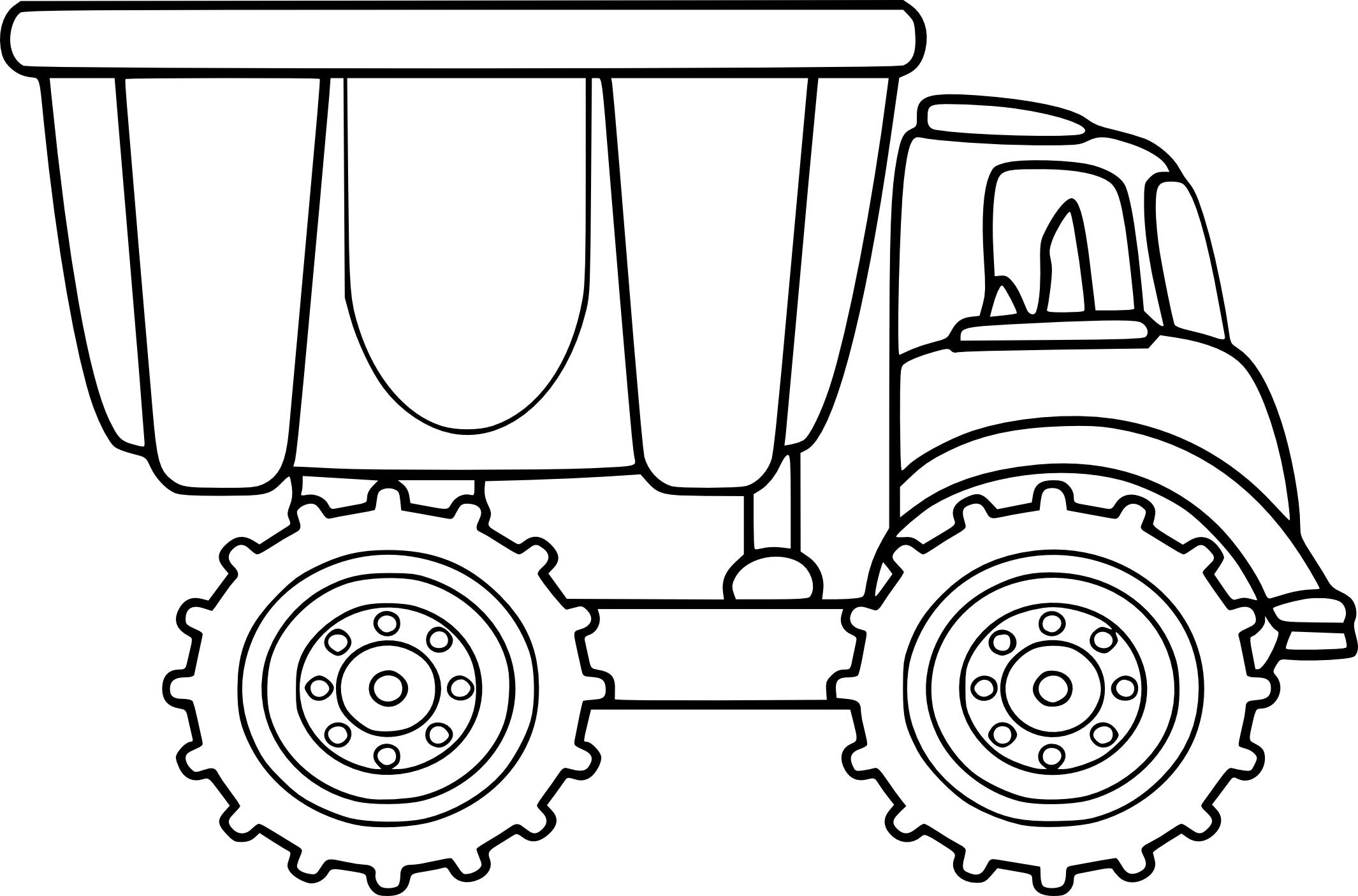 Coloriage camion benne à imprimer
