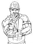 Coloriage catch John Cena