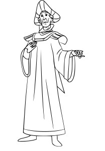Coloriage Claude Frollo