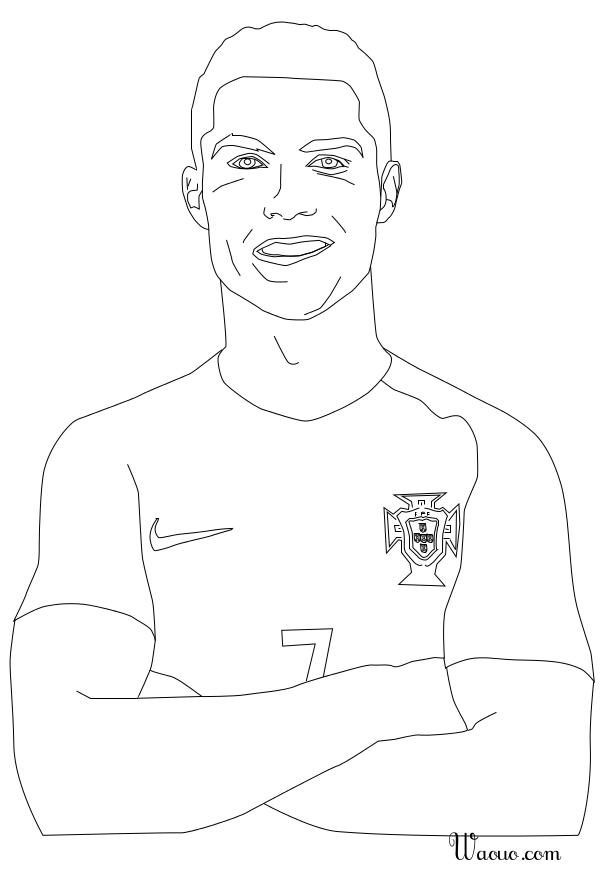 Coloriage Cristiano Ronaldo A Imprimer