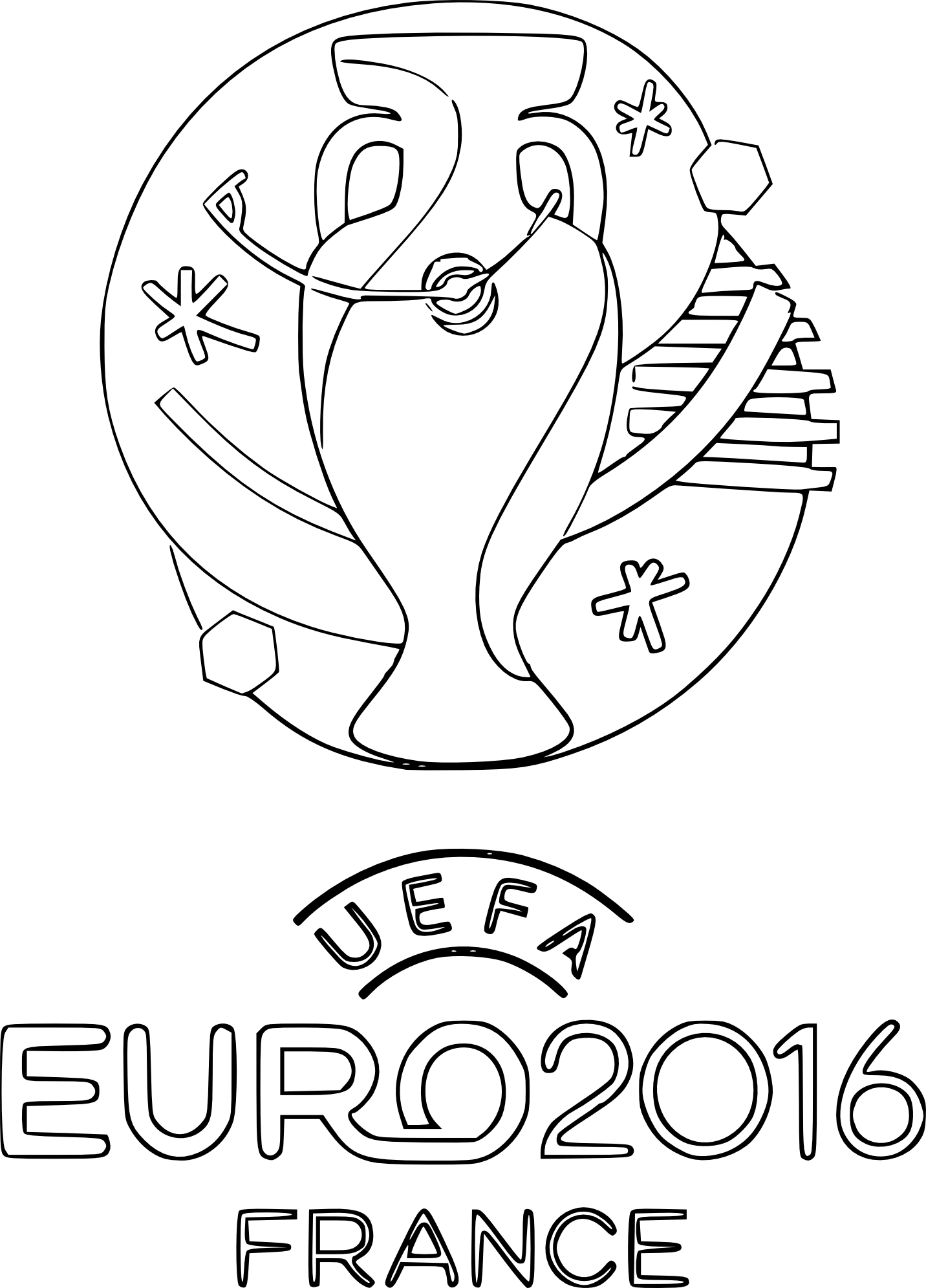 Coloriage Euro 2016