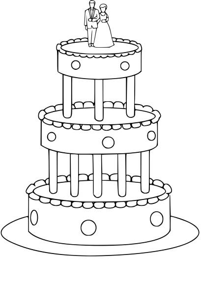 Coloriage gateau de mariage imprimer - Gateau a imprimer ...