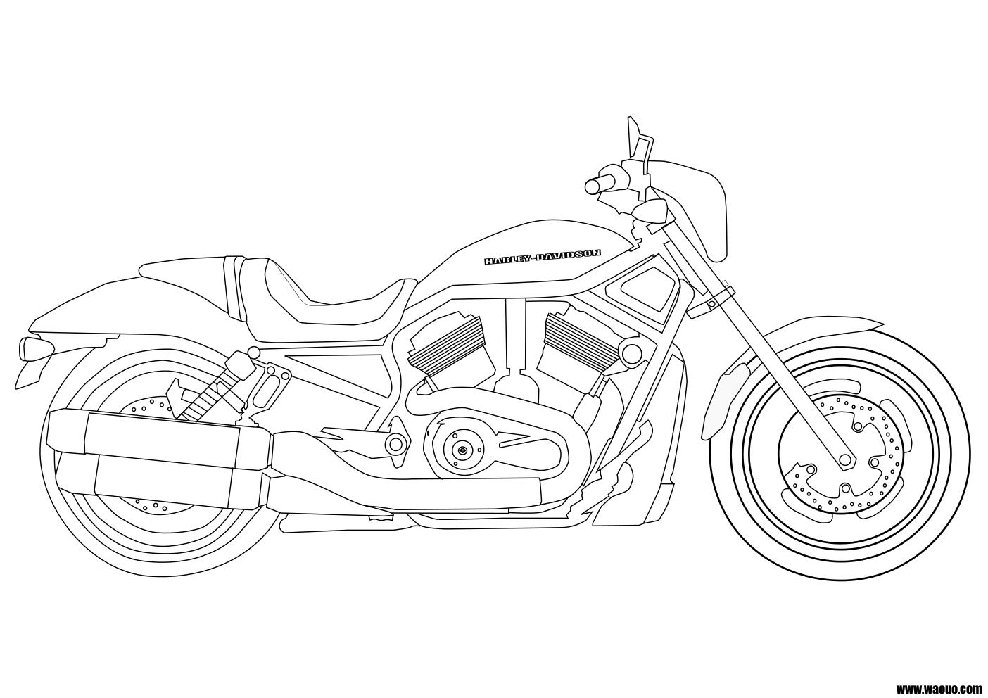 Coloriage harley davidson imprimer - Dessin de moto cross a colorier et a imprimer ...
