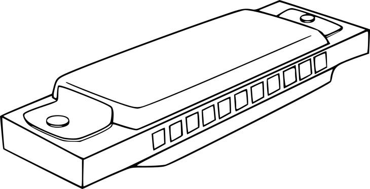 Coloriage harmonica imprimer - Coloriage piano ...
