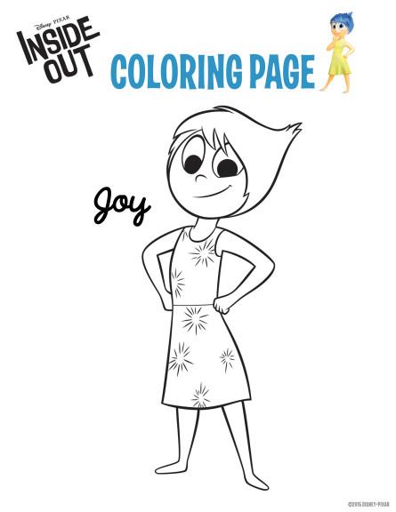 Coloriage Joie Vice Versa
