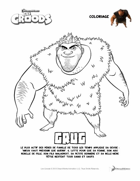 Coloriage Les Croods Grug