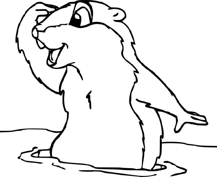 Coloriage marmotte imprimer - Coloriage marmotte ...