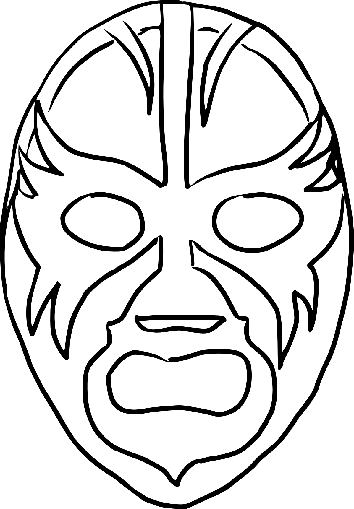 Coloriage masque catch