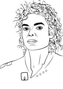 Coloriage Michael Jackson