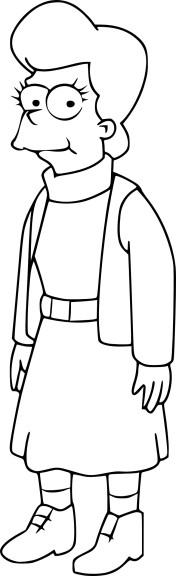 Coloriage Mona Simpson