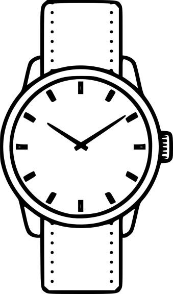 Coloriage montre