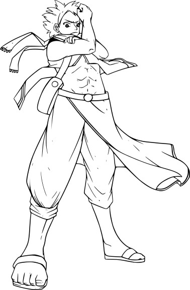 Coloriage Natsu Fairy Tail 224 Imprimer