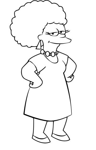 Coloriage Patty Bouvier Simpson