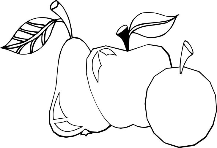 Coloriage pomme poire