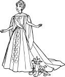Coloriage princesse Anastasia
