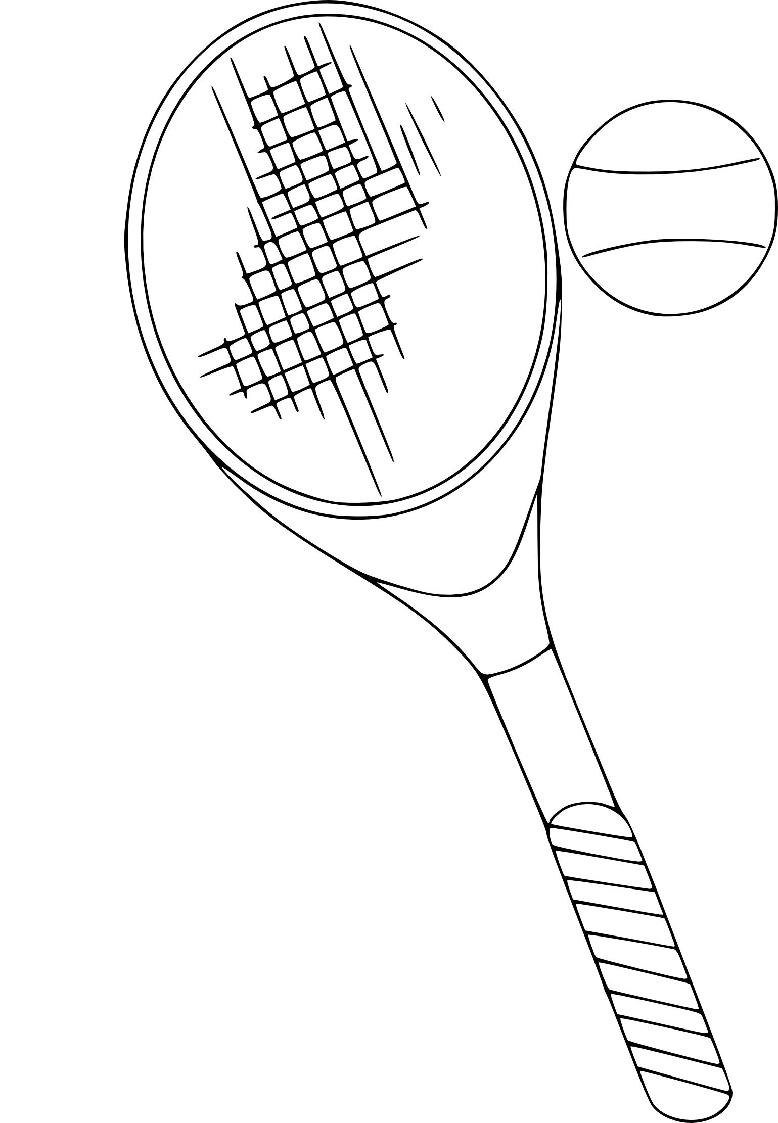 Coloriage raquette de tennis