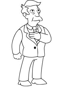 Coloriage Seymour Skinner